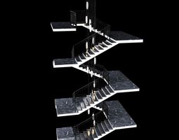 Stairs And Slv Ceiling Lamps 3D model