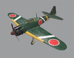 3D model Japan Japanese Navy A6M Zero Fighter