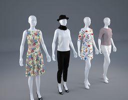 3D Mannequin Woman Cloth Model For Shop vol1