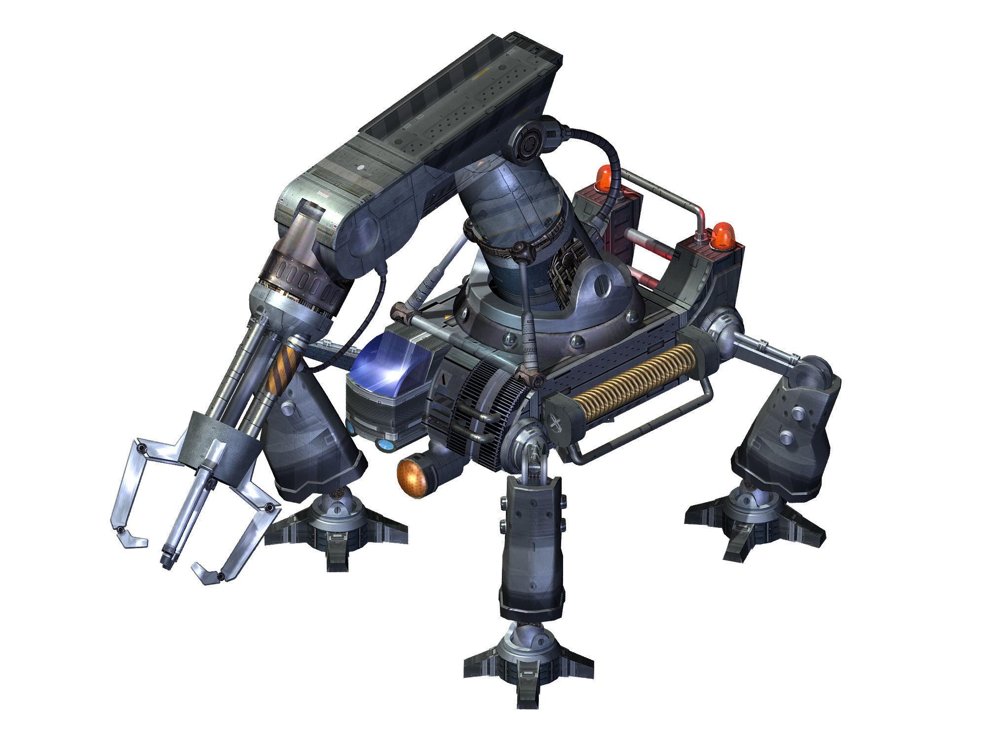 3D Robot-mechanical arm 01 | CGTrader