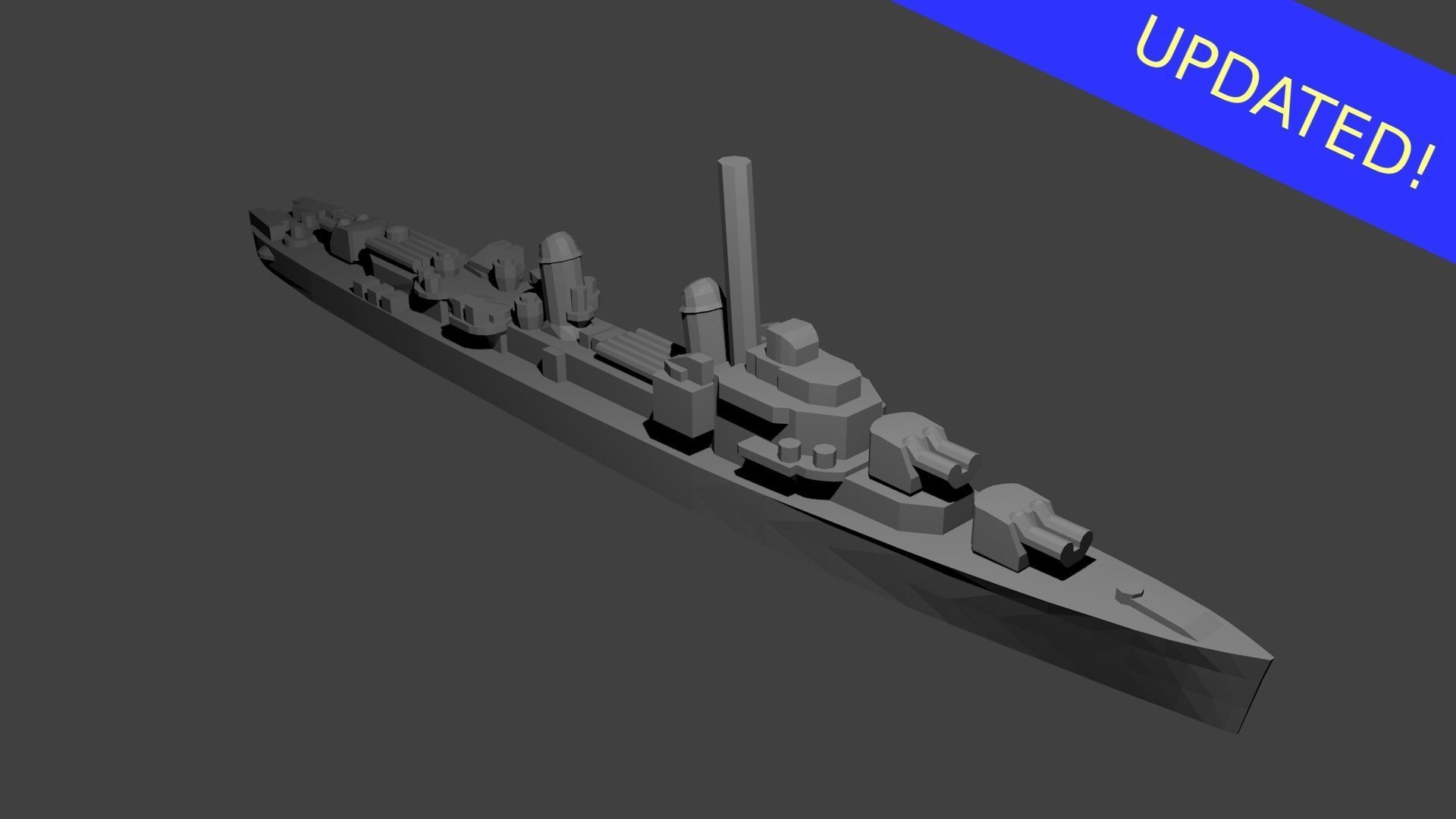 US Gearing Class Destroyer Warship