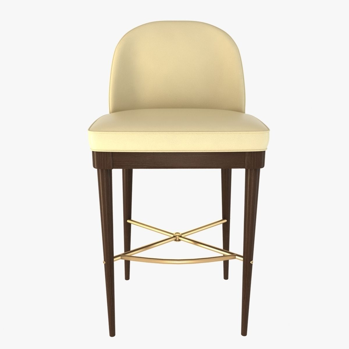 laurent bar stool by hickory chair furniture 3d model max obj 3ds fbx mtl 7