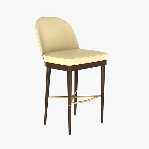Exceptionnel Laurent Bar Stool By Hickory Chair Furniture 3D Model MAX OBJ 3DS FBX MTL