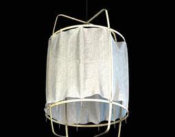 3d ay illuminate z1 black cloth ceiling lamp