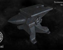 3D asset Medieval anvil