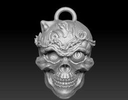 3D print model ornaments skull pendant