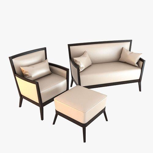 veneta sedie armchair and sofa 3d model max obj 3ds fbx mtl 1