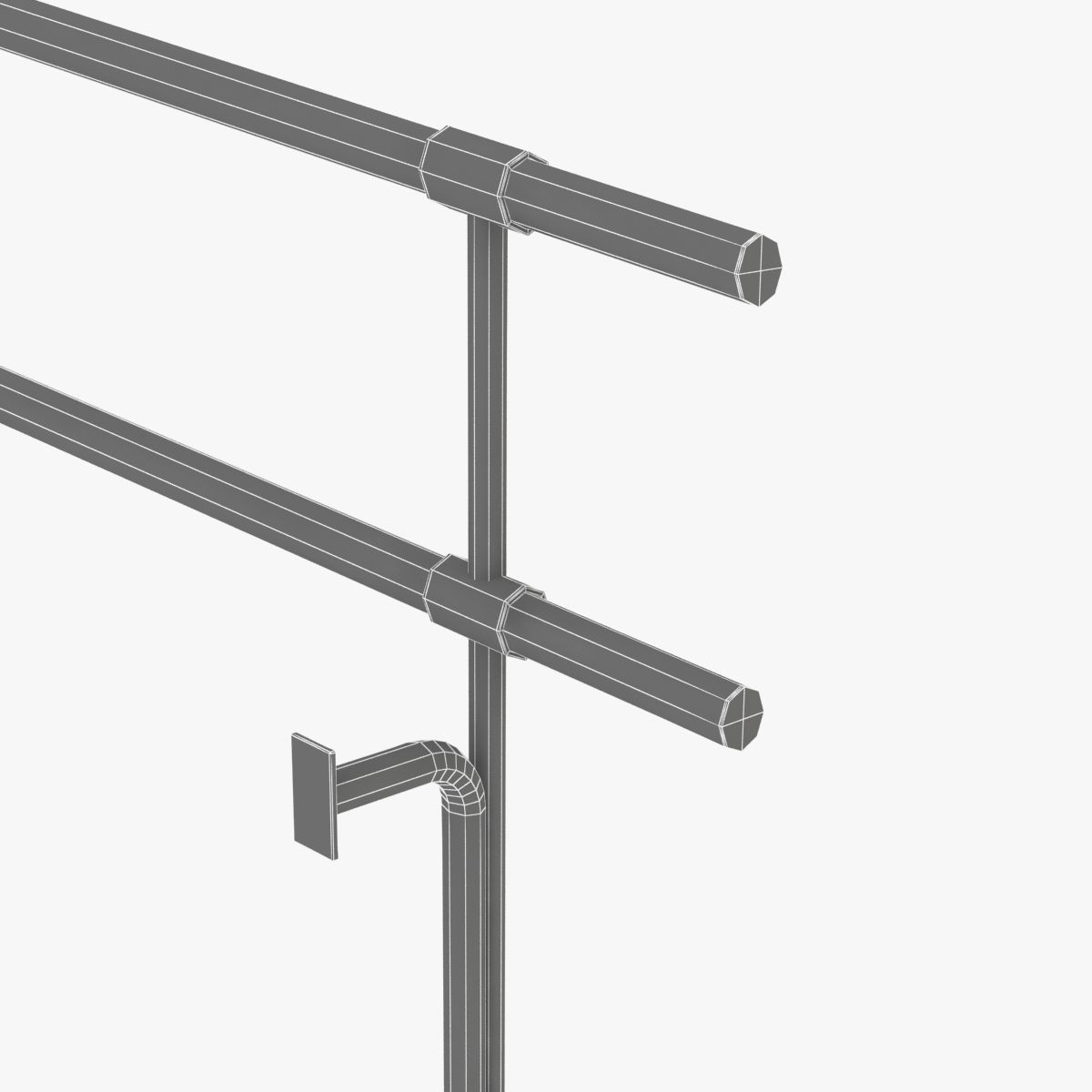 fixed double ballet barres