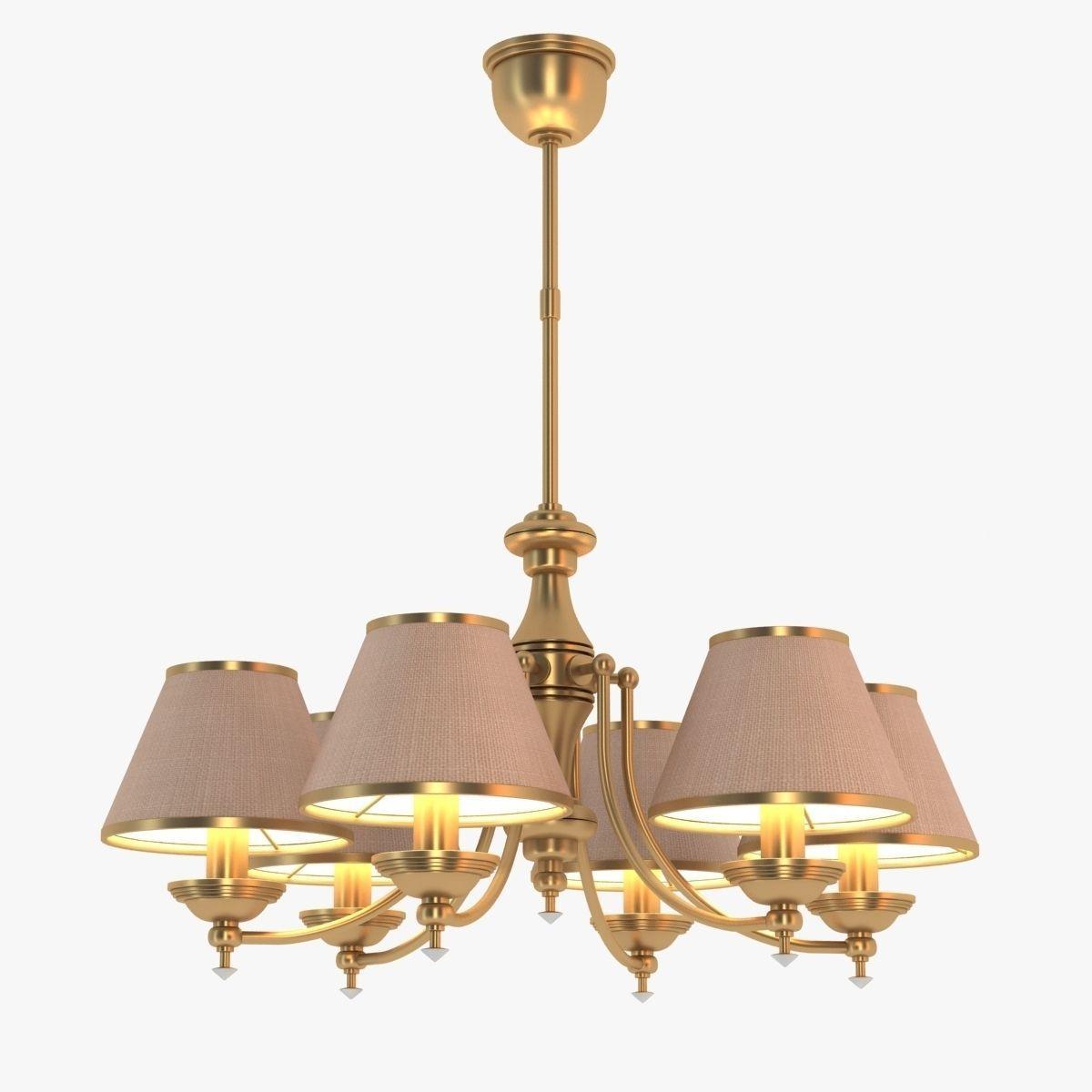 kutek brass chandelier 3d model max obj 3ds fbx mtl 1 - Brass Chandelier