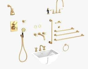 Lefroy Brooks Bath Furniture set 3D model