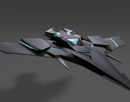 3D model Sci Fi Lowpoly Jet
