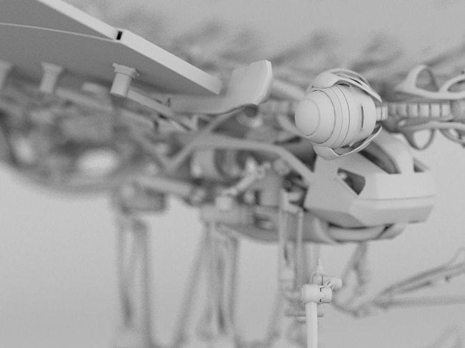 mechafly 3d model rigged max obj mtl 3ds fbx 1