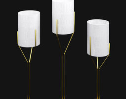 3D model Three Lamps Gold