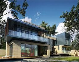 3D suburban House