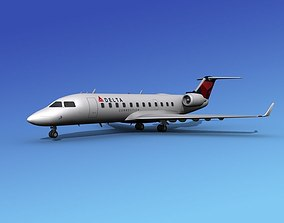 3D Canadair CRJ200 Delta Connection
