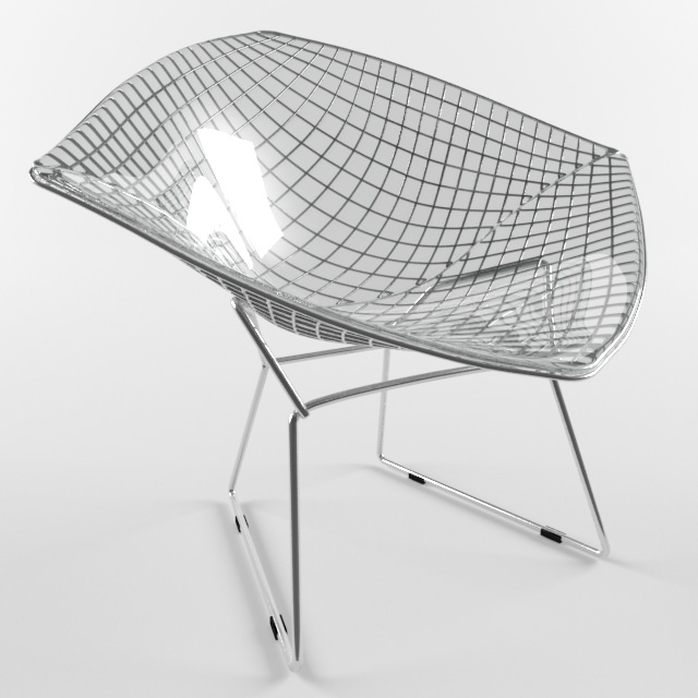diamond chair harry bertoia knoll studio 3d model max obj 3ds fbx mtl 1