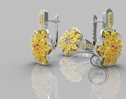 Ring ang earrings 3D Print Model