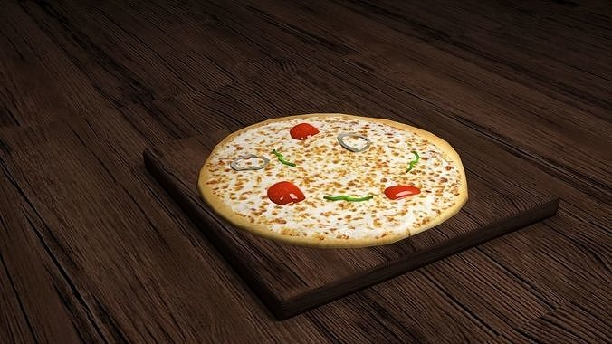 pizza  3d model max obj mtl 3ds fbx 1
