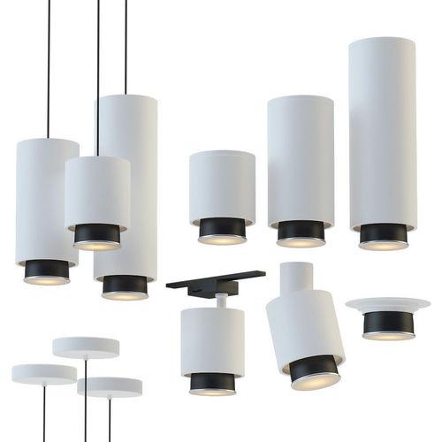 fabbian claque lamp set 3d model max fbx 1