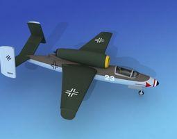 3D model Heinkel He 162 Volksjaeger V01