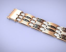 silver bracelet01 3D printable model
