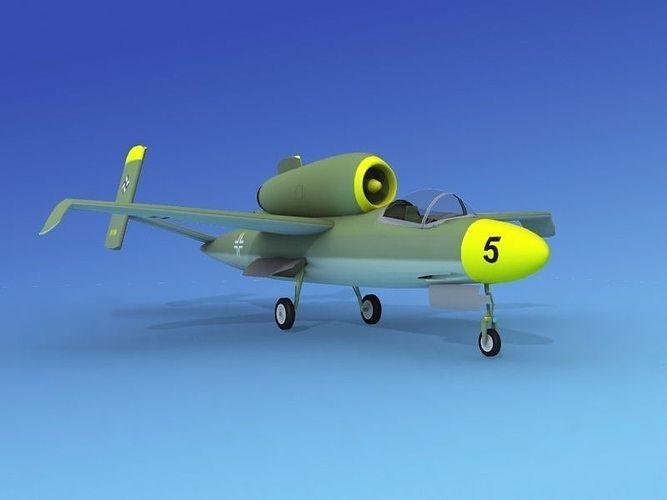 heinkel he 162 volksjaeger v10 3d model max obj mtl 3ds lwo lw lws dxf 3dm 1