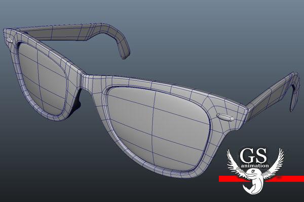 2a0232865d ... rayban wayfarer sunglasses 3d model max obj mtl fbx ma mb 7 ...