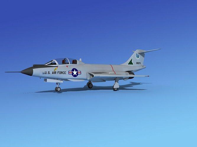 mcdonnell f-101b voodoo v05 3d model max obj mtl 3ds lwo lw lws dxf stl 1