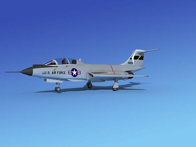 mcdonnell f-101b voodoo v07 3d model max obj 3ds lwo lw lws dxf stl 1