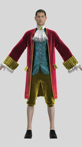 Mens Suit Of 18th Century 3d Cgtrader