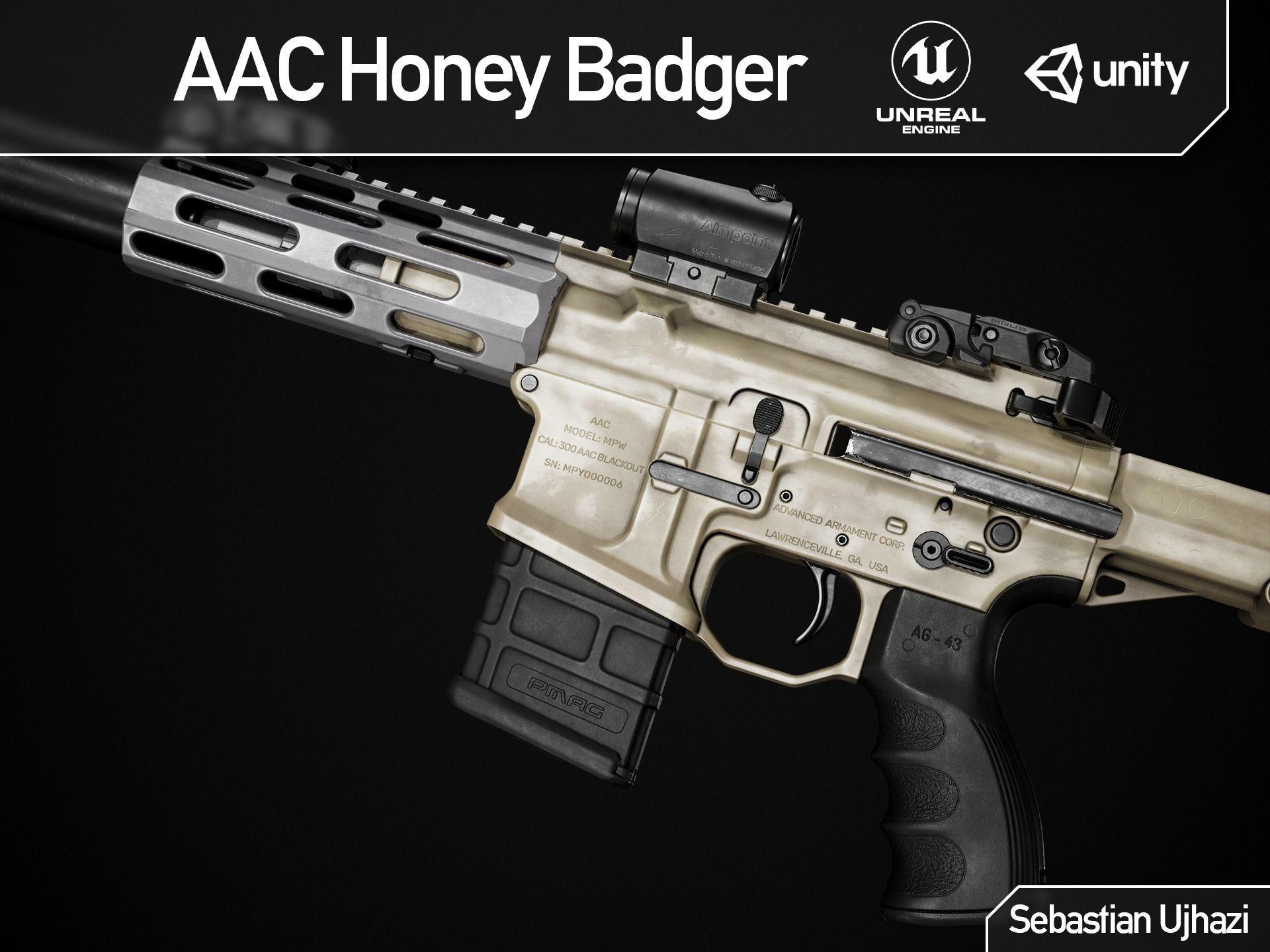 AAC Honey Badger - Game Ready PBR Asset | 3D model