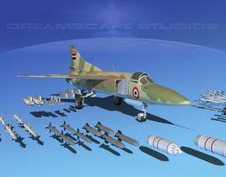 mig-23 fighter libya 3d rigged