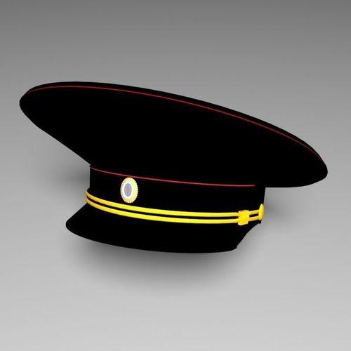 2d682c12374 Russian police hat 3D model