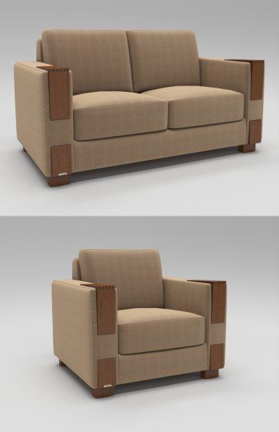 Squareton Sofa 3D Model