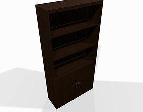 3D model Wooden shelf box