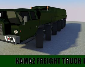 Military Freight Truck II 3D asset game-ready