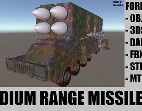 3D asset realtime Medium Range Missile