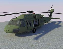 3D asset MH-60 Black Hawk
