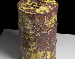 Nuke Waste BARREL 3D model