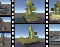 3D asset Anti-Aircraft Radar Package