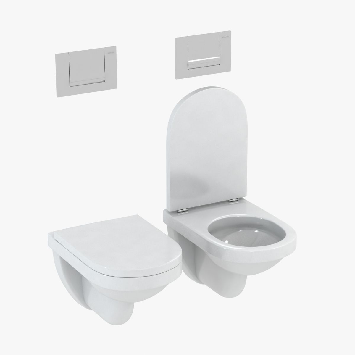duravit happy d toilet 3d model max obj 3ds fbx mtl 1 - Duravit Toilet