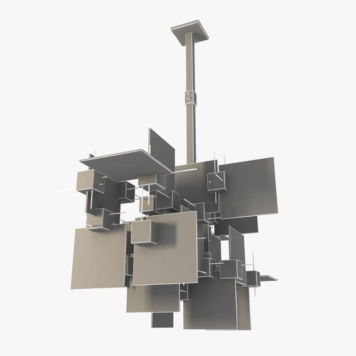 Gaetano Sciolari Chandelier 3D Model MAX OBJ 3DS FBX ...