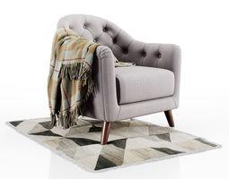 3D armchair Lotus