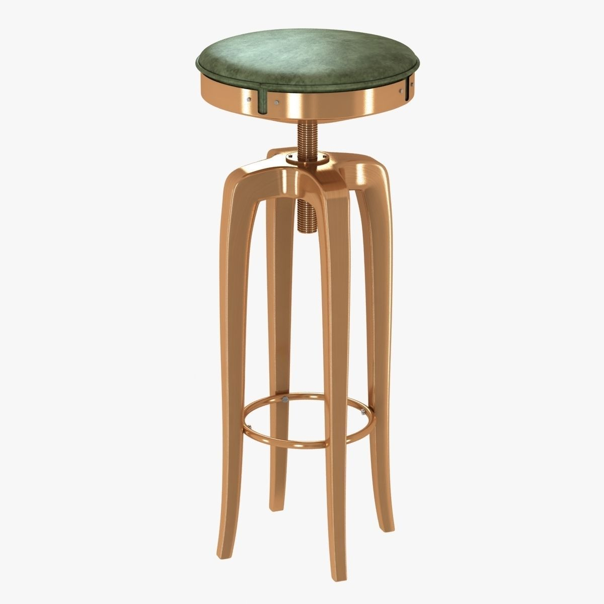 Brabbu Mohawk Modern Leather Bar Stool 3d Model Max Obj 3ds Fbx Mtl 1 ...