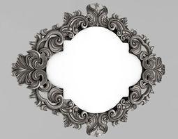 Frame mirror 3D printable model elements