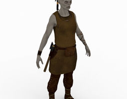 Female orc peasant 3D