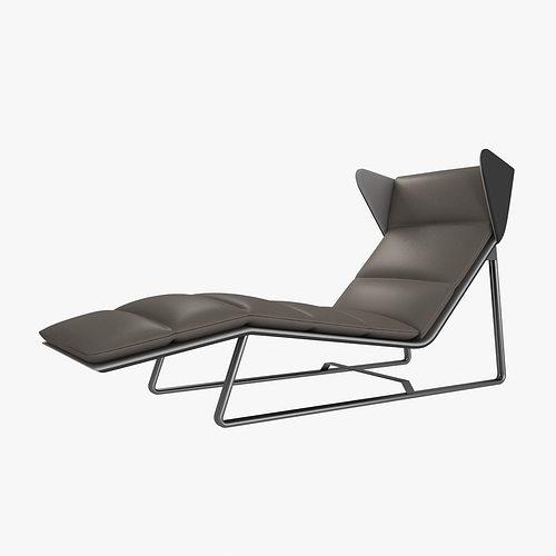 Esedra romea modern chaise lounge 3d model max obj 3ds fbx mtl for Chaise 3d dessin