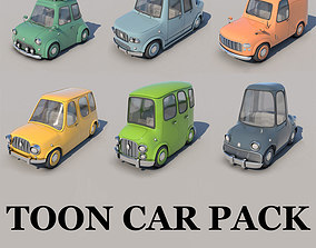 Toon Cars Pack - 6 Pieces 3D