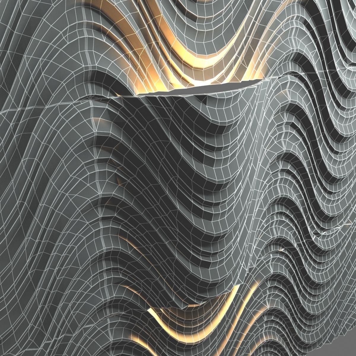 Lithos design seta 3d wall tiles 3d model max obj 3ds fbx for 3d outdoor wall tiles