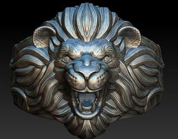 Ring Lion for jewerly 3D Print